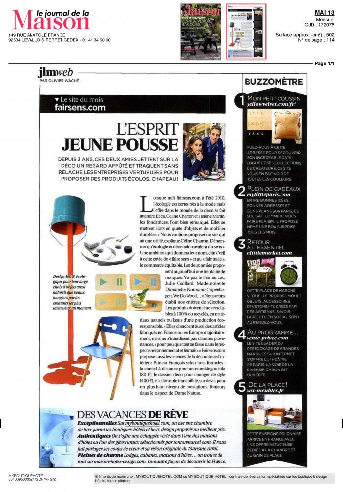 la presse parle de nous i my boutique hotel. Black Bedroom Furniture Sets. Home Design Ideas