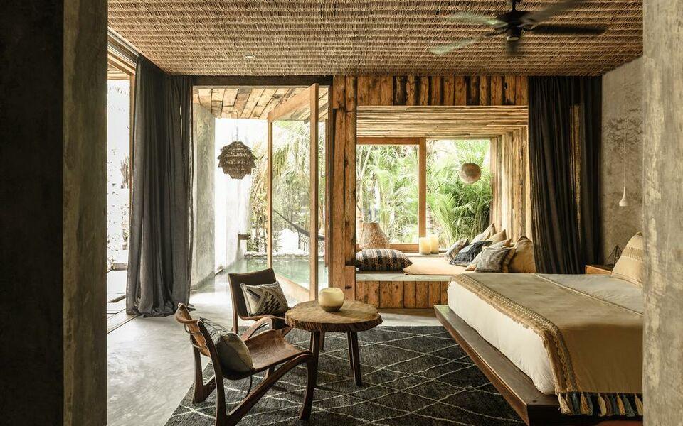 Be tulum beach spa resort a design boutique hotel tulum for Design hotel tulum