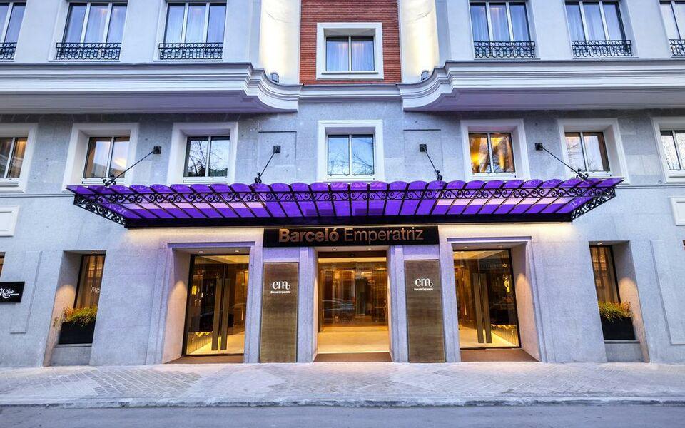 Barcel emperatriz a design boutique hotel madrid spain for Design boutique hotel madrid