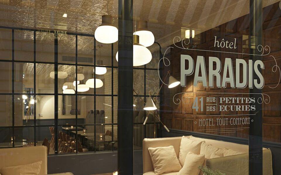 hotel paradis a design boutique hotel paris france. Black Bedroom Furniture Sets. Home Design Ideas