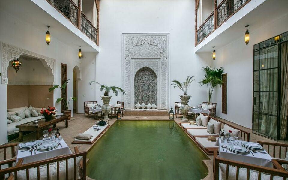 Riad luciano spa a design boutique hotel marrakech morocco for Hotel design marrakech