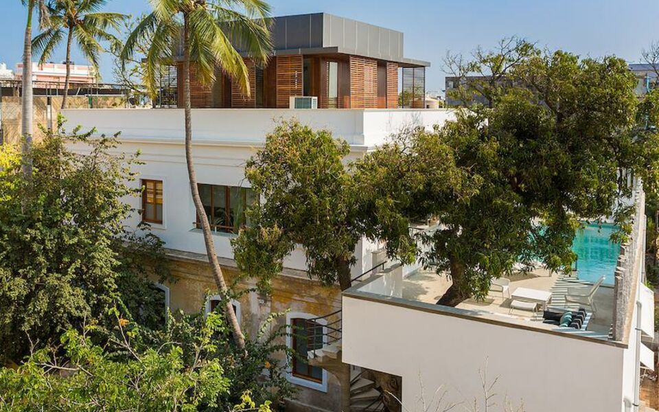 La villa a design boutique hotel pondicherry india for Villas in pondicherry with swimming pool