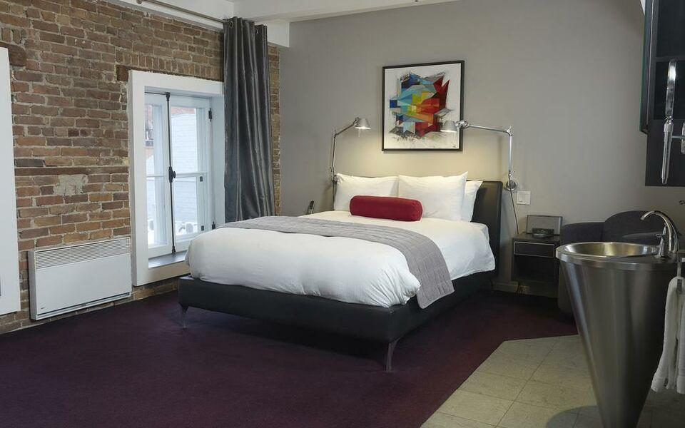 Hotel le priori a design boutique hotel quebec city canada for Hotel design quebec