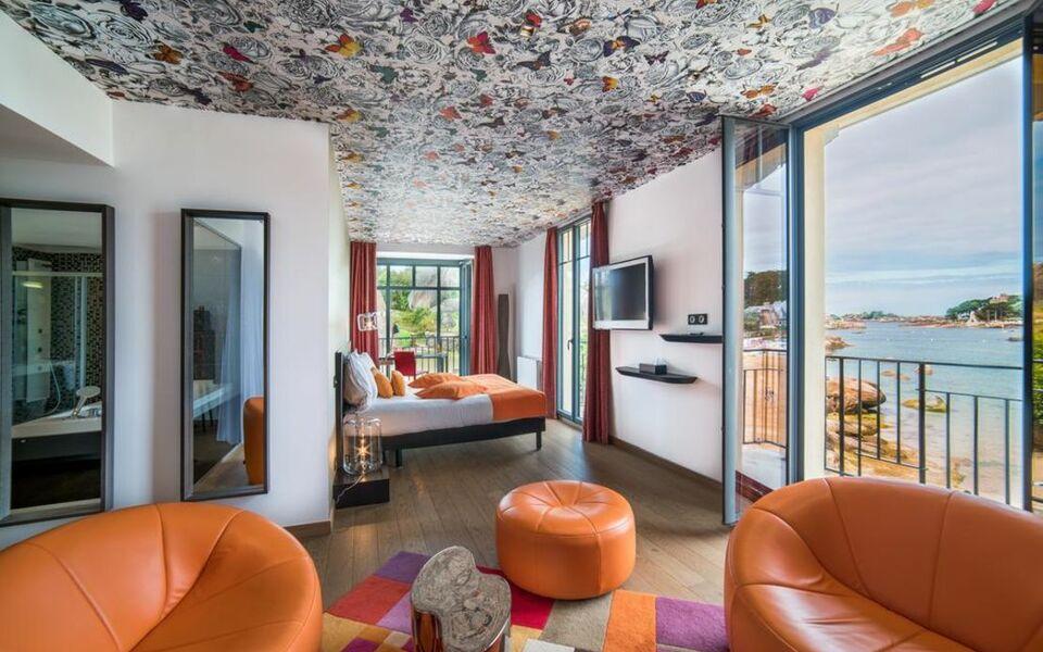 castel beau site h tel spa perros guirec frankreich. Black Bedroom Furniture Sets. Home Design Ideas