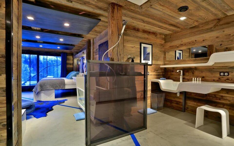 chalet quezac le villaret francia. Black Bedroom Furniture Sets. Home Design Ideas