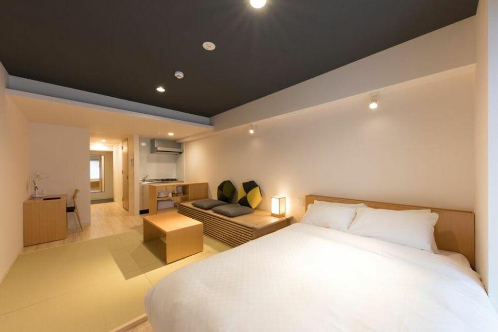 Residential hotel hare shin osaka a design boutique hotel for Boutique hotel osaka