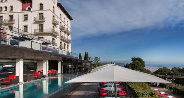 gran hotel la florida g l monumento barcelona spanien. Black Bedroom Furniture Sets. Home Design Ideas