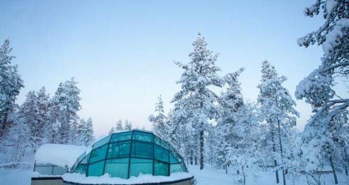 kakslauttanen igloo west village saariselka finnland. Black Bedroom Furniture Sets. Home Design Ideas