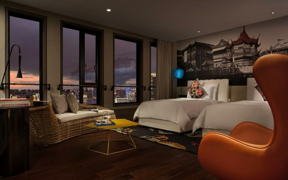 Hotel indigo shanghai on the bund a design boutique hotel for Design hotel shanghai