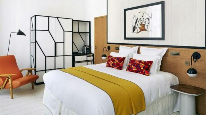 Les nouvelles chambres et suites ont été créées par François Champsaur à l'hôtel du Ministère