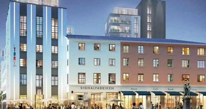 story hotel signalfabriken a design boutique hotel sundbyberg sweden. Black Bedroom Furniture Sets. Home Design Ideas