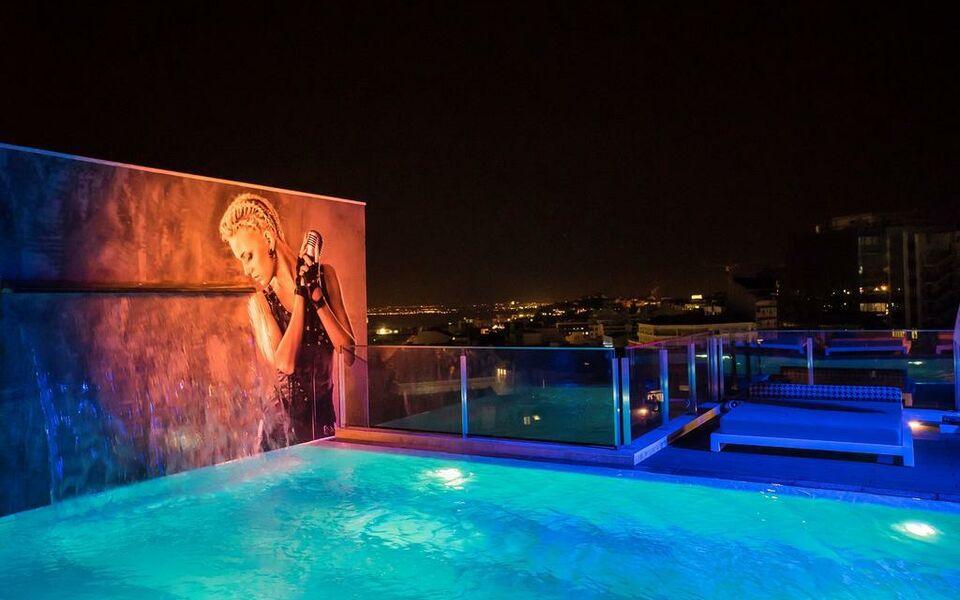 Hf fenix music a design boutique hotel lisbon portugal for Lisbon boutique hotel swimming pool