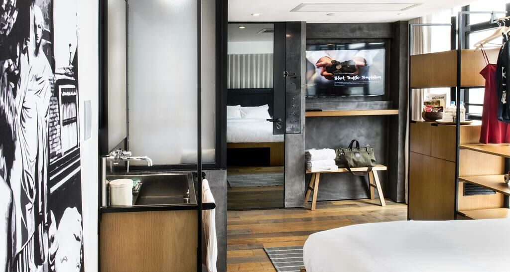 Boutique Millennial Hotel Room