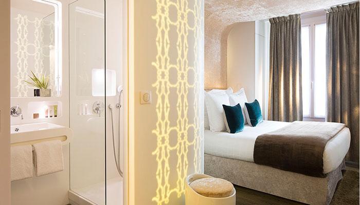 hotel gabriel paris paris france book with my boutique hotel. Black Bedroom Furniture Sets. Home Design Ideas